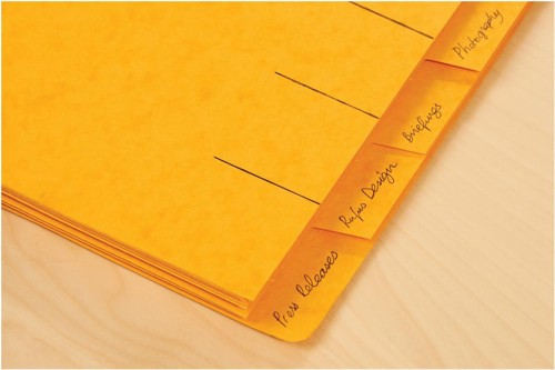 Elba Organiser File Pressboard Elasticated 7-Part Foolscap Yellow Code 100090310