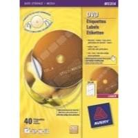 Avery Full Face Laser DVD Optimised Perforated Matt Label White L7860-20 Pack of 20