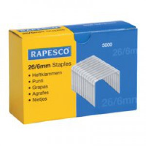 Rapesco Staples 26/6mm Box 5000 S11662Z3