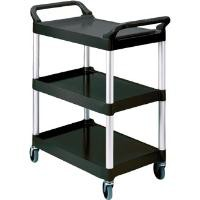 Rubbermaid Utility Cart Polypropylene 3 Tiers Scratch Resistant W854xD473xH959mm Black Ref 3424-88-BLA