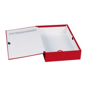 Concord Classic Box File 75mm Spine Foolscap Red Ref C1279 [Pack 5]