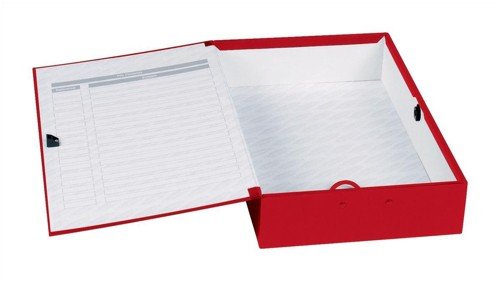 Concord Classic Box File Paper-lock Finger-pull and Catch 75mm Spine Foolscap Red Ref C1279 [Pack 5]