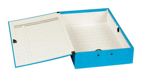 Concord Contrast Box File Laminated Paper-lock 75mm Spine Foolscap Sky Blue Ref 13478 [Pack 5]