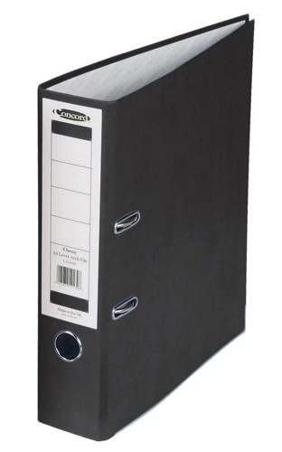 Concord Classic Lever Arch File Printed Lining Capacity 70mm A4 Black Ref C214046 [Pack 10]