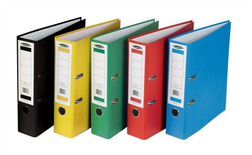 Concord Classic Lever Arch File Printed Lining Capacity 70mm A4 Assorted Ref C214070 [Pack 10]