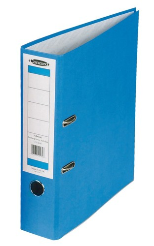 Concord Classic Lever Arch File Printed Lining Capacity 70mm Foolscap Blue Ref C216050 [Pack 10]
