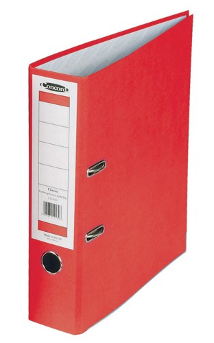 Concord Classic Lever Arch File Printed Lining Capacity 70mm Foolscap Red Ref C216051 [Pack 10]