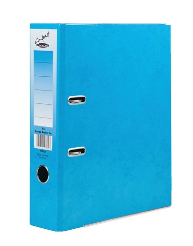Concord Contrast Lever Arch File Laminated 5-Part Dividers 70mm Spine A4 Sky Blue