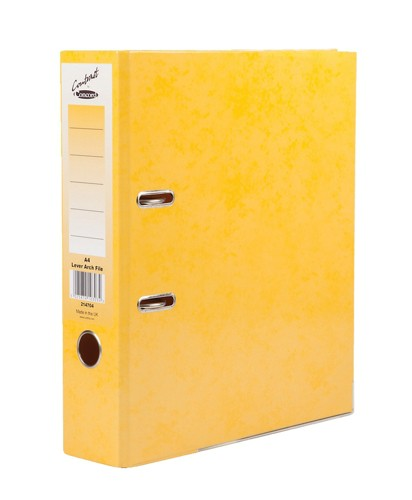 Concord Contrast Lever Arch File Laminated 5-Part Dividers 70mm Spine A4 Sunflower Code 214704