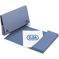 Image for Elba Document Wallet Half Flap 285gsm Capacity 32mm A4 Blue Ref 100090129 [Pack 50]