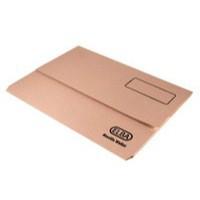 Elba Document Wallet Half Flap 285gsm Capacity 32mm A4 Buff Ref 100090244 [Pack 50]