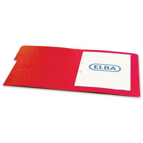 Elba Organiser File Pressboard Elasticated 9-Part Foolscap Red Ref 100090174 [Pack 5]