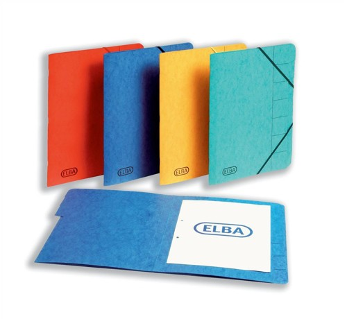 Elba Organiser File Pressboard Elasticated 7-Part Foolscap Red Ref 100090171 [Pack 5]