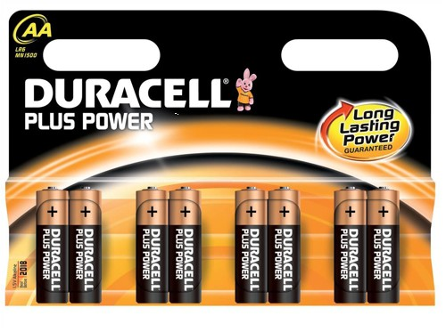 Duracell Plus Power Battery Alkaline 1.5V AA Ref 81275188 [Pack 8]