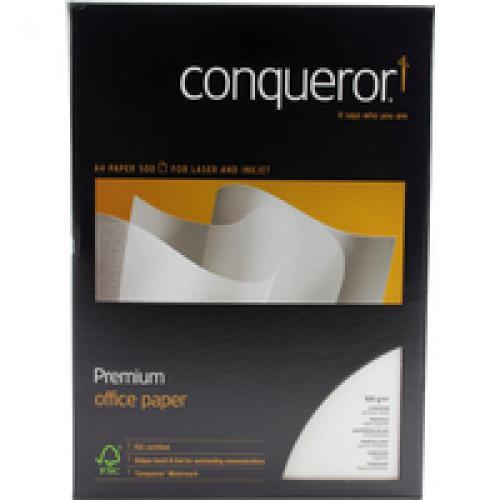 Conqueror Texture Cont Bril Wht A4 Pk500