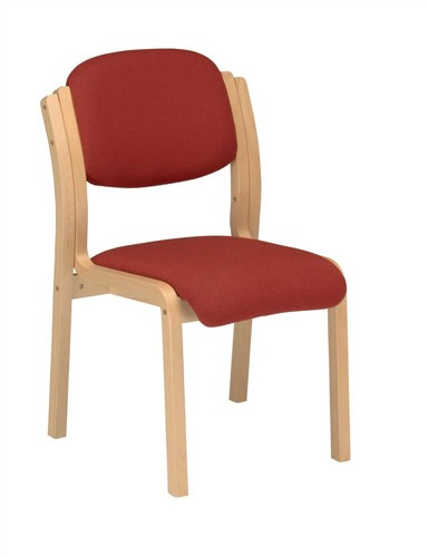 Trexus Side Chair Wood Upholstered Stackable Seat W405xD500xH480mm Burgundy