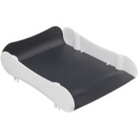 Avery Infinity Letter Tray Wave-design Back-tilted Base White and Grey Ref INF1WG