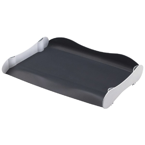 Avery Infinity Entry Tray Wave-design Back-tilted Base Wide White and Grey Ref INF2WG