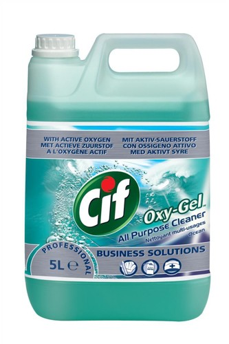 Cif Oxygel All Purpose Cleaner Professional Active Oxygen Ocean Spray 5 Litre Code 7510015