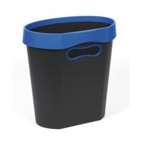 Avery Infinity Waste Bin Oval Flat-backed Removable Rim 18 Litres Blue and Grey Ref INF7BG