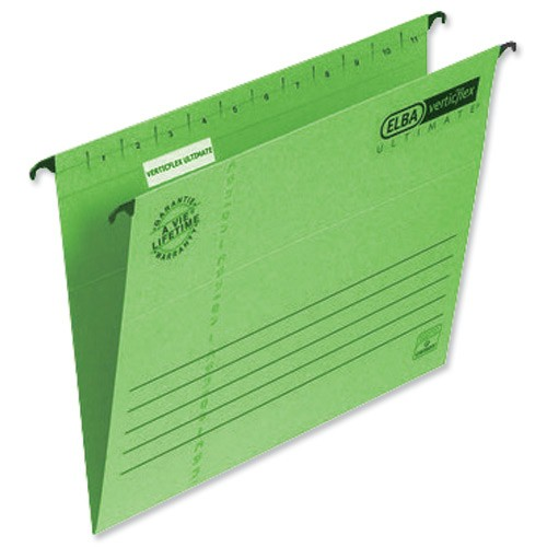 Elba Verticflex Ultimate Suspension File Manilla 240gsm A4 Green