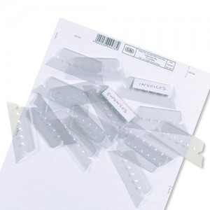 Elba Verticflex Plastic Tabs for Suspension Files Ref 100330217 [Pack 25]