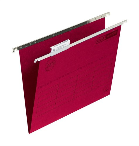 Elba Verticfile Ultimate Suspension File Manilla 240gsm Foolscap Red Ref 100331118 [Pack 50]
