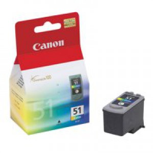 Canon CL-51 Inkjet Cartridge Page Life 545pp Colour Ref 0618B001