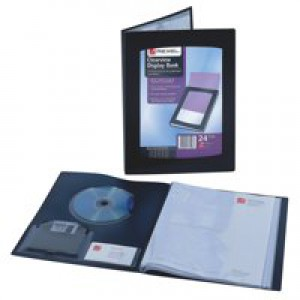 Rexel A4 Clearview Display Book Black 12 Pocket Code 10300BK