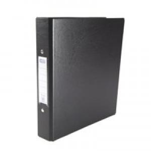 Elba Ring Binders Heavyweight PVC 2 O-Ring Size 25mm A5 Black Ref 100082442 [Pack 10]