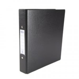 Elba Ring Binders Heavyweight PVC 2 O-Ring Size 25mm A5 Black Code 100082442