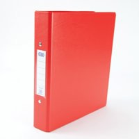 Elba Ring Binders Heavyweight PVC 2 O-Ring Size 25mm A5 Red Ref 100082444 [Pack 10]