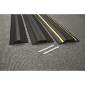 D-Line Black Floor Cable Cover 30x10mm