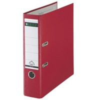 Leitz Mini Lever Arch File Plastic 52mm Spine A4 Red
