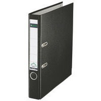 Leitz Mini Lever Arch File Plastic 52mm Spine A4 Black Ref 10151095 [Pack 10]