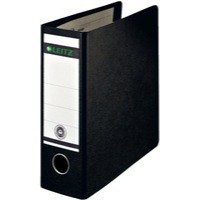 Leitz Board Lever Arch File Upright 77mm Spine A5 Black
