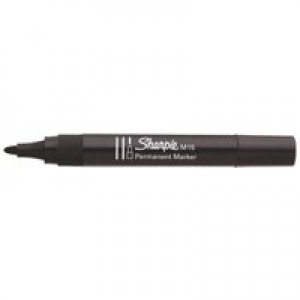 Sharpie M15 Permanent Marker Bullet Tip 1.8mm Line Black Ref S0192584 [Pack 12]