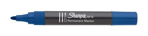 Sharpie M15 Permanent Marker Bullet Tip 1.8mm Line Blue Ref S0192625 [Pack 12]
