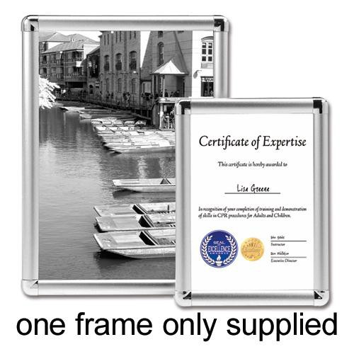 Display Frame Aluminium Front Loading with Fixings A4