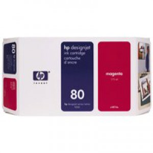 HP No.80 Inkjet Cartridge 175ml Magenta Code C4874A