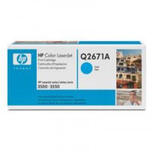 Hewlett Packard [HP] No. 309A Laser Toner Cartridge Page Life 4000pp Cyan Ref Q2671A