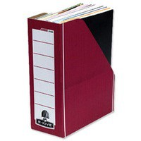 Bankers Box Prem Magazine File Red/White