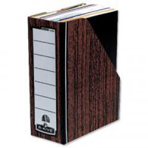 Bankers Box Prem Magazine File Woodgrain