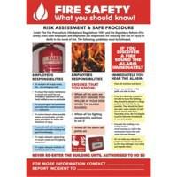 Stewart Superior Fire Safety Laminated Guidance Poster W420xH595mm Ref HS105