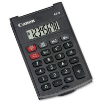 Image for Canon Pocket Calculator 8-digit Black AS-8 4598B001AA