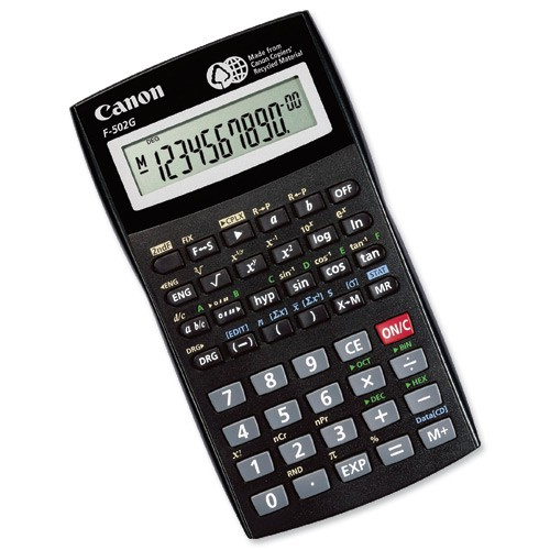 Canon Scientific Calculator F-502 Dark Grey 3497B004AA