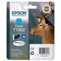 Epson T1302 Inkjet Cartridge DURABrite Stag XL Capacity 10.1ml Cyan Ref C13T13024010