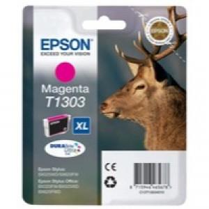 Epson T1303 Inkjet Cartridge DURABrite Stag XL Capacity 10.1ml Magenta Ref C13T13034010