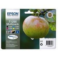 Epson T1295 Inkjet Cartridge Apple L Capacity 32.2ml Black/Cyan/Magenta/Yellow Ref C13T12954010 [Pack 4]