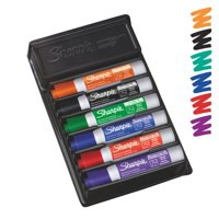 Sharpie Whiteboard Marker Organiser Set Drywipe with Eraser Chisel Tip 2mm Line Assorted Ref S0902061